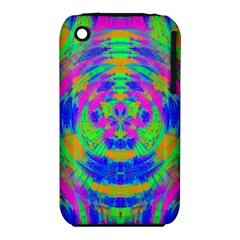 Neon Abstract Circles Apple iPhone 3G/3GS Hardshell Case (PC+Silicone)
