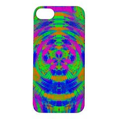 Neon Abstract Circles Apple iPhone 5S Hardshell Case