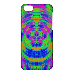 Neon Abstract Circles Apple iPhone 5C Hardshell Case