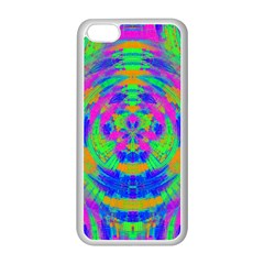 Neon Abstract Circles Apple iPhone 5C Seamless Case (White)