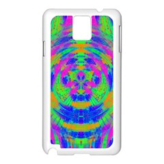 Neon Abstract Circles Samsung Galaxy Note 3 N9005 Case (White)