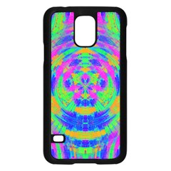 Neon Abstract Circles Samsung Galaxy S5 Case (Black)