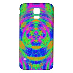Neon Abstract Circles Samsung Galaxy S5 Back Case (White)