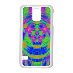 Neon Abstract Circles Samsung Galaxy S5 Case (White)