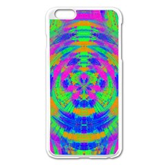 Neon Abstract Circles Apple iPhone 6 Plus Enamel White Case