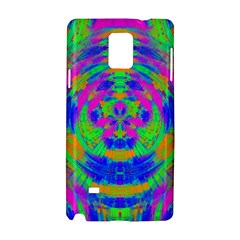 Neon Abstract Circles Samsung Galaxy Note 4 Hardshell Case