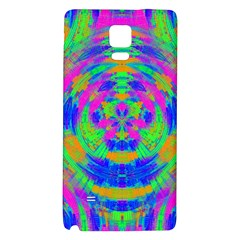 Neon Abstract Circles Samsung Note 4 Hardshell Back Case
