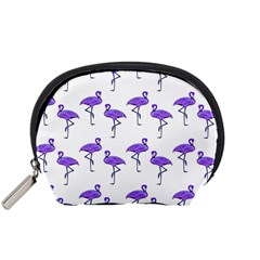 Flamingo Neon Purple Tropical Birds Accessory Pouch (Small)