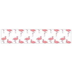 Pink Flamingo Pattern Flano Scarf (Small)