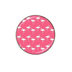 Flamingo White On Pink Pattern Golf Ball Marker 10 Pack (for Hat Clip)