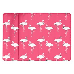 Flamingo White On Pink Pattern Samsung Galaxy Tab 10 1  P7500 Flip Case