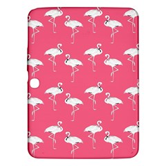 Flamingo White On Pink Pattern Samsung Galaxy Tab 3 (10 1 ) P5200 Hardshell Case