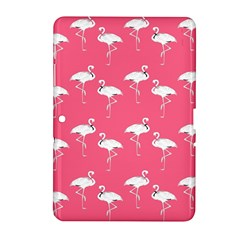 Flamingo White On Pink Pattern Samsung Galaxy Tab 2 (10.1 ) P5100 Hardshell Case