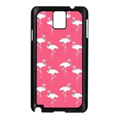 Flamingo White On Pink Pattern Samsung Galaxy Note 3 N9005 Case (black)