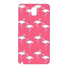 Flamingo White On Pink Pattern Samsung Galaxy Note 3 N9005 Hardshell Back Case
