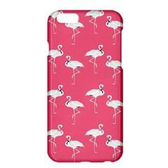 Flamingo White On Pink Pattern Apple Iphone 6 Plus Hardshell Case