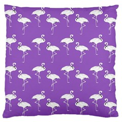 Flamingo White On Lavender Pattern Standard Flano Cushion Case (Two Sides)