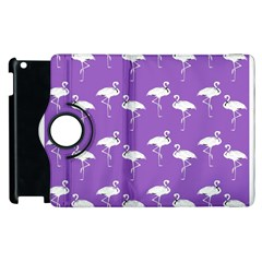 Flamingo White On Lavender Pattern Apple iPad 3/4 Flip 360 Case