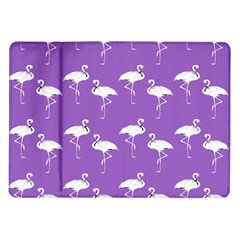 Flamingo White On Lavender Pattern Samsung Galaxy Tab 10.1  P7500 Flip Case