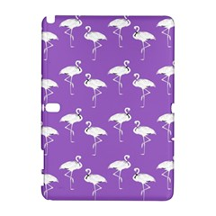 Flamingo White On Lavender Pattern Samsung Galaxy Note 10.1 (P600) Hardshell Case
