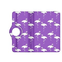 Flamingo White On Lavender Pattern Kindle Fire Hdx 8 9  Flip 360 Case