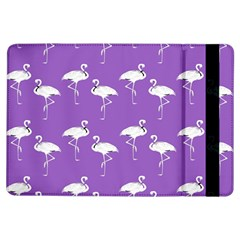 Flamingo White On Lavender Pattern Apple iPad Air Flip Case