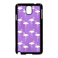 Flamingo White On Lavender Pattern Samsung Galaxy Note 3 Neo Hardshell Case (black)