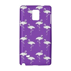 Flamingo White On Lavender Pattern Samsung Galaxy Note 4 Hardshell Case
