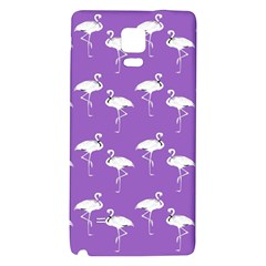 Flamingo White On Lavender Pattern Samsung Note 4 Hardshell Back Case