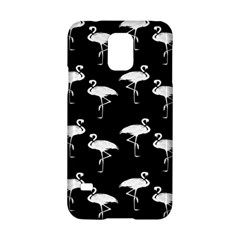 Flamingo Pattern White On Black  Samsung Galaxy S5 Hardshell Case
