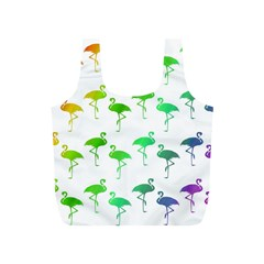 Flamingo Pattern Rainbow  Reusable Bag (S)