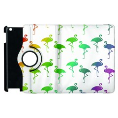 Flamingo Pattern Rainbow  Apple iPad 3/4 Flip 360 Case