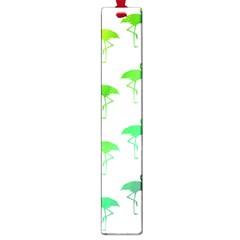 Flamingo Pattern Rainbow  Large Bookmark