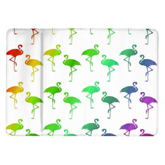 Flamingo Pattern Rainbow  Samsung Galaxy Tab 10 1  P7500 Flip Case