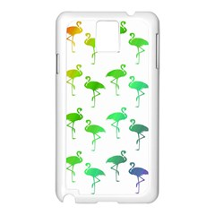 Flamingo Pattern Rainbow  Samsung Galaxy Note 3 N9005 Case (white)