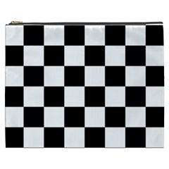 Checkered Flag Race Winner Mosaic Tile Pattern Cosmetic Bag (xxxl)