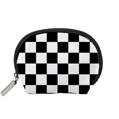 Checkered Flag Race Winner Mosaic Tile Pattern Accessory Pouch (Small)