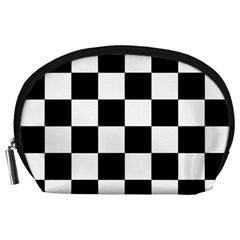 Checkered Flag Race Winner Mosaic Tile Pattern Accessory Pouch (Large)