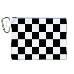 Checkered Flag Race Winner Mosaic Tile Pattern Canvas Cosmetic Bag (xl)