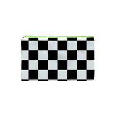 Checkered Flag Race Winner Mosaic Tile Pattern Cosmetic Bag (xs)