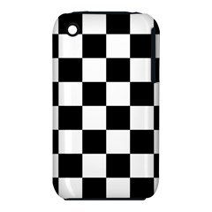 Checkered Flag Race Winner Mosaic Tile Pattern Apple Iphone 3g/3gs Hardshell Case (pc+silicone)