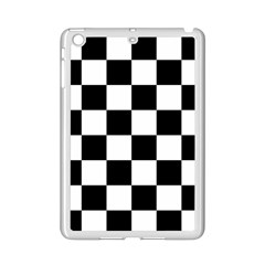 Checkered Flag Race Winner Mosaic Tile Pattern Apple iPad Mini 2 Case (White)