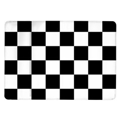 Checkered Flag Race Winner Mosaic Tile Pattern Samsung Galaxy Tab 10 1  P7500 Flip Case
