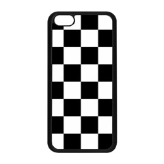 Checkered Flag Race Winner Mosaic Tile Pattern Apple iPhone 5C Seamless Case (Black)