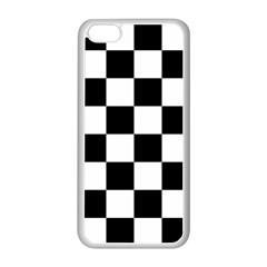 Checkered Flag Race Winner Mosaic Tile Pattern Apple Iphone 5c Seamless Case (white)