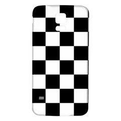Checkered Flag Race Winner Mosaic Tile Pattern Samsung Galaxy S5 Back Case (White)