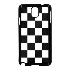 Checkered Flag Race Winner Mosaic Tile Pattern Samsung Galaxy Note 3 Neo Hardshell Case (Black)