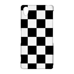 Checkered Flag Race Winner Mosaic Tile Pattern Sony Xperia Z2 Hardshell Case