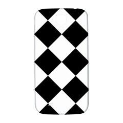 Harlequin Diamond Mosaic Tile Pattern Black White Samsung Galaxy S4 I9500/i9505  Hardshell Back Case