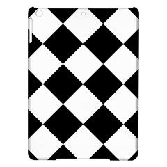 Harlequin Diamond Mosaic Tile Pattern Black White Apple iPad Air Hardshell Case